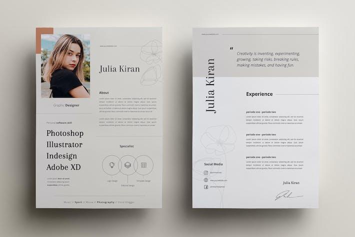 Thumbnail for Minimal CV Resume