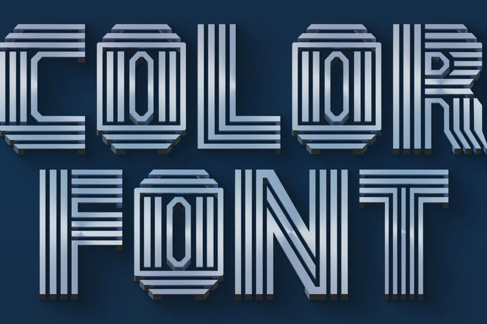 Thumbnail for Lignes simples - Police SVG couleur
