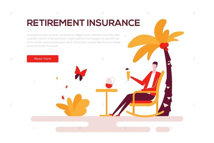 Thumbnail for Retirement insurance - flat design style banner