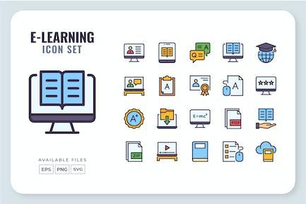 Conjunto de iconos de e-Learning