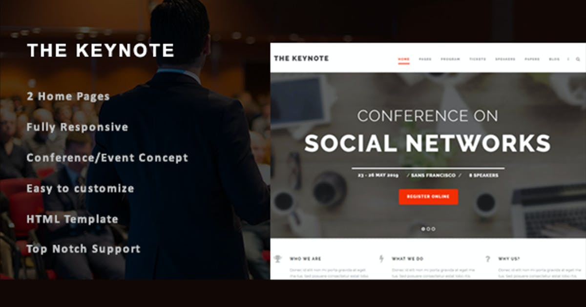 Download The Keynote - Conference/Event HTML Template by max-themes