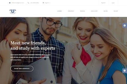 Aquarius - Educational University HTML Template
