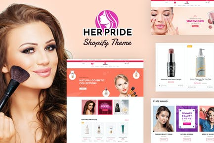 HerPride - Centre de beauté Shopify, Boutique de cosmétiques