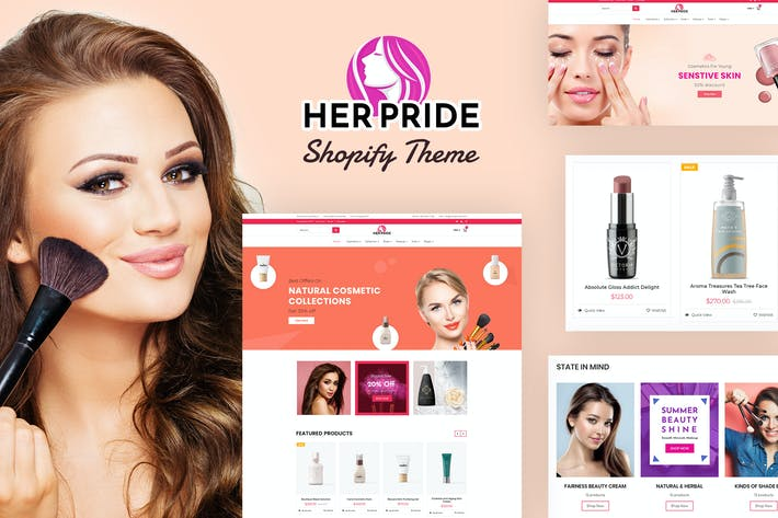 Thumbnail for HerPride - Shopify Beauty Center, Cosmetic Shop