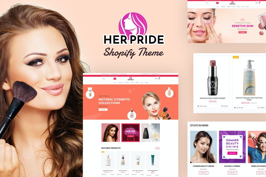 HerPride - Shopify Beauty Center, Cosmetic Shop