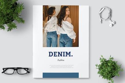Denim Lookbook Fashion Portfolio