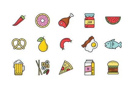 15 Food Icons