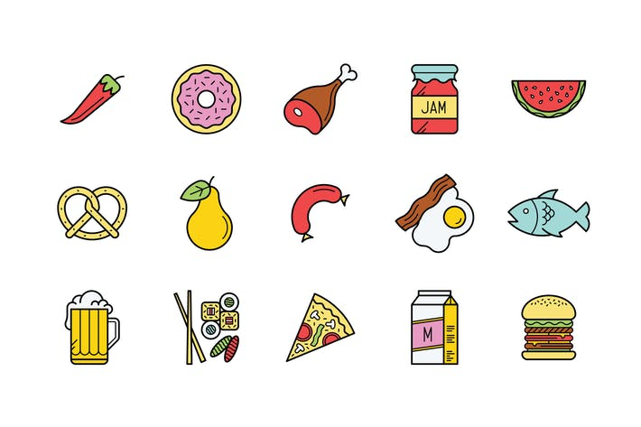 Thumbnail for 15 Food Icons