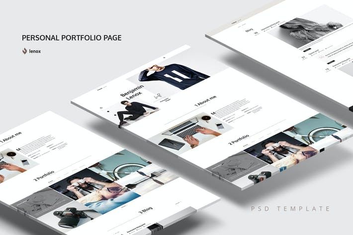 Thumbnail for Personal Portfolio PSD Template