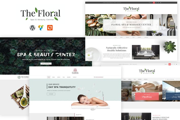 Thumbnail for Floral - Spa and Beauty Responsive WordPress Theme