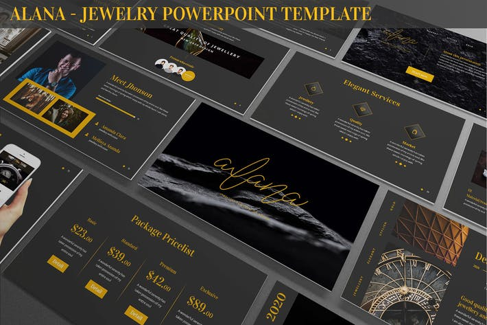 Cover Image For Alana - Jewelry Powerpoint Template