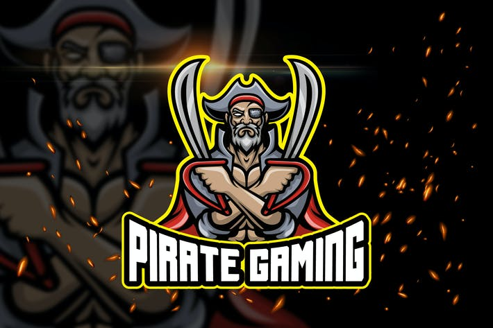 Thumbnail for Pirate Gaming - AI and PSD Esport Logo Template