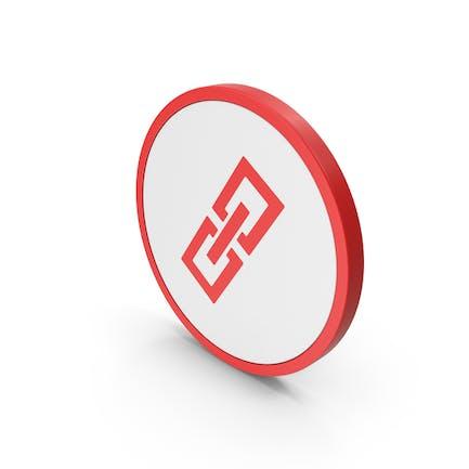 Icon Gliederkette Rot