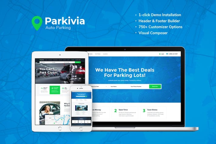 Thumbnail for Parkivia | Auto Parking & Car Maintenance WP