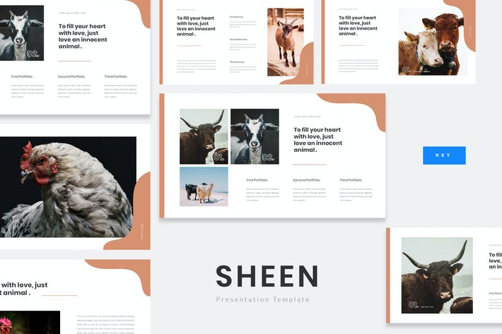 Thumbnail for Sheen - Animal Farm Keynote Presentation Template