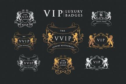 Gold Platinum Vip Luxury Badges