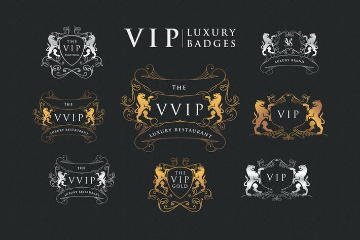 Thumbnail for Gold Platinum Vip Luxury Badges