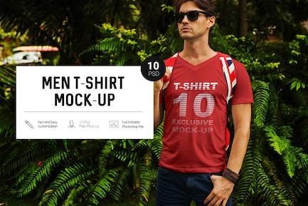 Men in Tropic T-Shirt Mock-Up