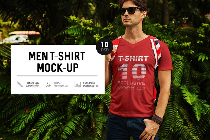 Thumbnail for Men in Tropic T-Shirt Mock-Up
