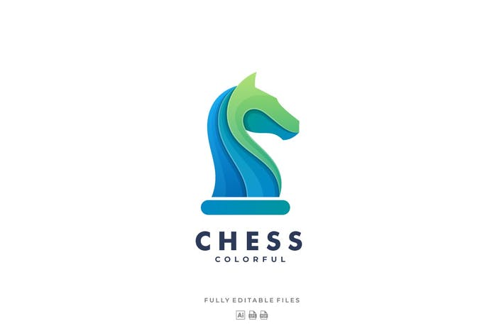 Thumbnail for Chess Horse Colorful Logo