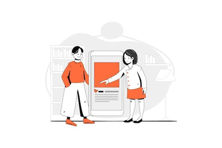 Thumbnail for Zusammenarbeiten Vektor Illustration-Konzept