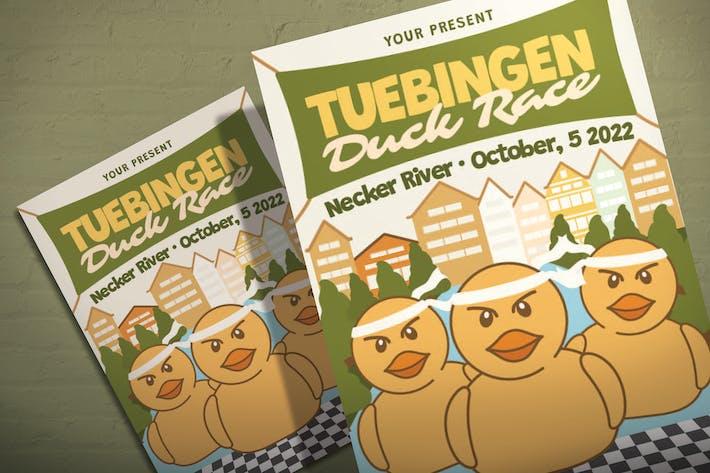 Thumbnail for Tubingen Entenrennen - Flyer Vorlage