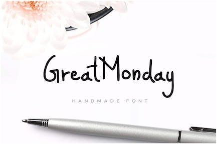 GreatMonday - Fresh Handmade / Custom Brush Font