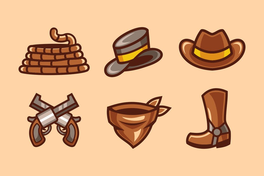 western cowboy element collection set