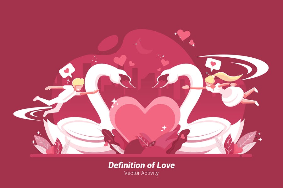 Definition of Love - Vector Illustration