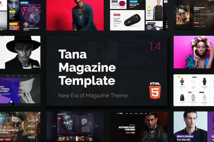 Cover Image For Magazine Tana - News Music Movie Blog Fashion HTML