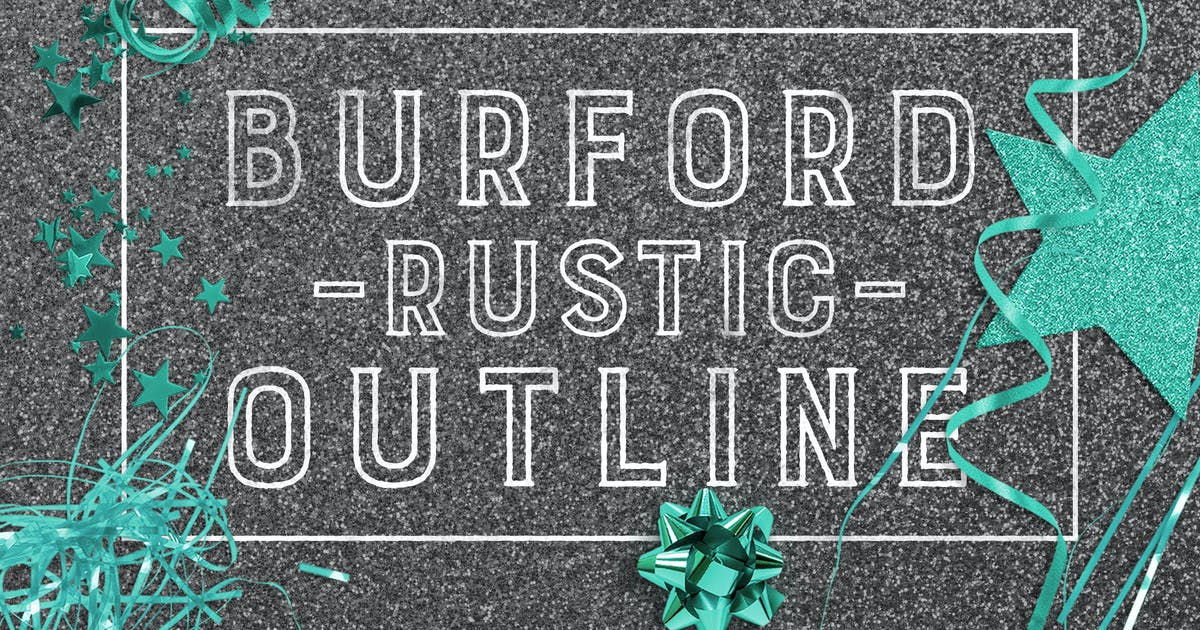 Download Burford Rustic Outline by kimmydesign