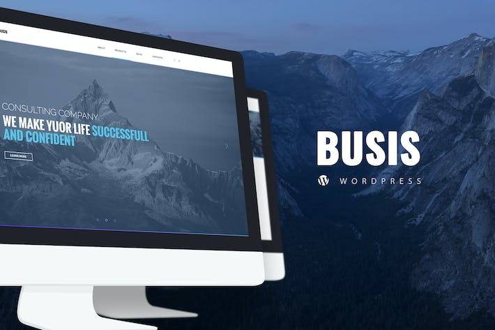 Thumbnail for Busis — Business & Corporate WordPress Theme