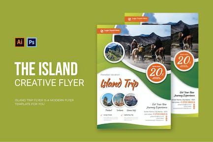 Inselreise - Flyer