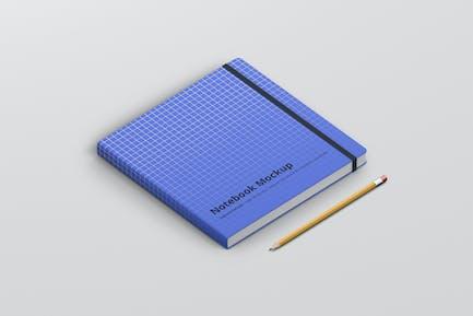 Notebook Mockup Square Format