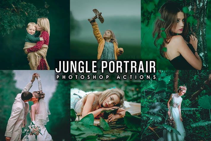 Thumbnail for Jungle Portrait Photoshop Actions
