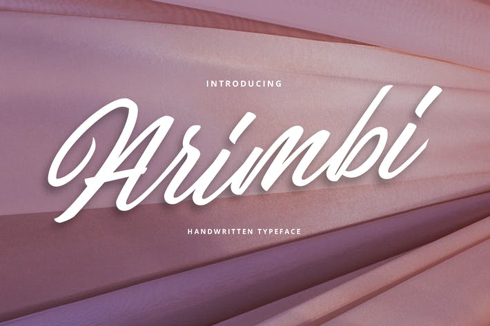 Thumbnail for Arimbi Handwritten Typeface Font