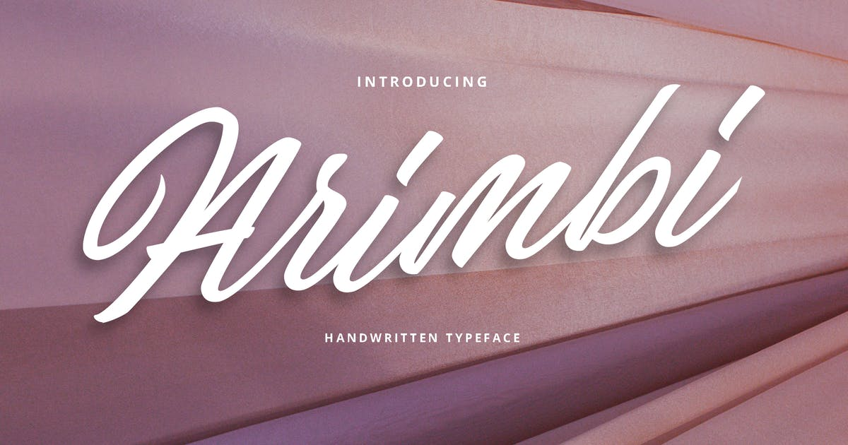 Download Arimbi Handwritten Typeface Font by Macademia