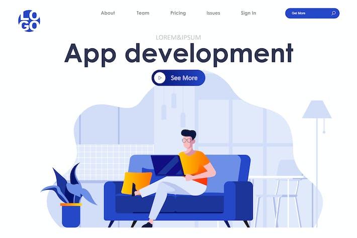 Thumbnail for App Development Landing Page Flat Concept