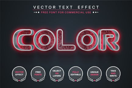 Pink color editable text effect, font style