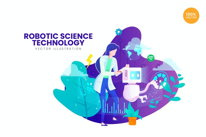 Thumbnail for Robotic Science Vector Illustration Concept