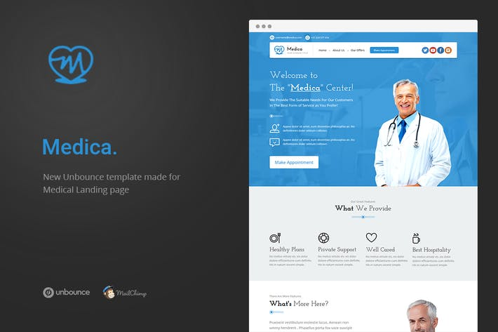 Thumbnail for Medica - Unbounce Medical Page de destination