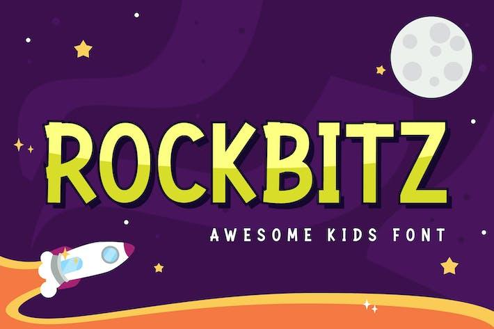 Thumbnail for Rockbitz - playful font