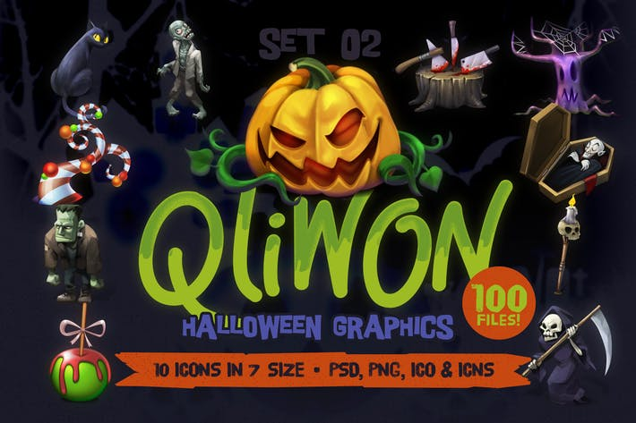 Thumbnail for QLIWON – Halloween Graphic Pack Vol.2