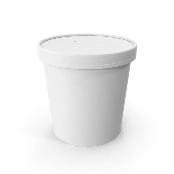 Белая бумажная пищевая чашка с вентилируемой крышкой одноразовое ведро для мороженого 26 унций 750 мл