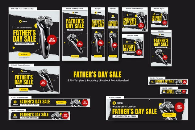Father's Day Sale Banners Ad