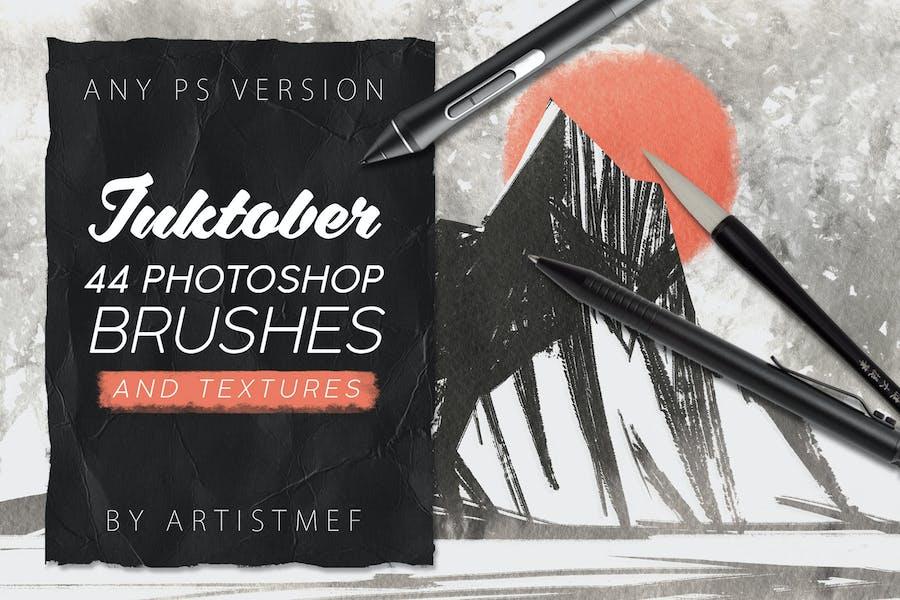 Inktober 2019 Photoshop Brushes