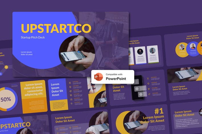 Thumbnail for UPSTARTCO - Startup PowerPoint Template