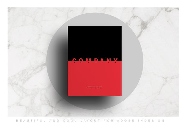 Red and Black Company Profile Layout