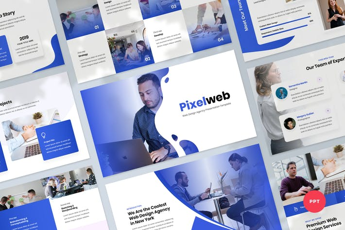 Thumbnail for Web Design Agency PowerPoint Templat Presentation