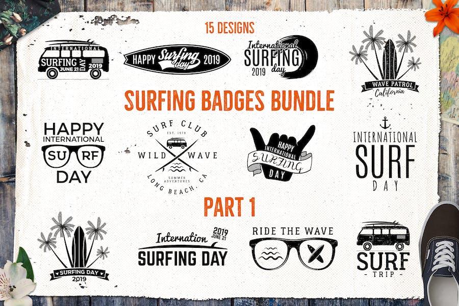 Summer Logo / Surfing Badges & Elements